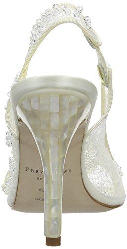 Freya Rose - Yuuka, Scarpe Col Tacco da Donna (Off White (Ivory))