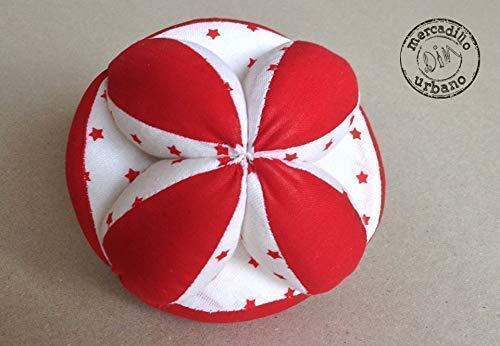 Kinderball, Montessori-Stil, Babyball, Montessori-Material, Sinnesgeschenk, Babyspielzeug, RED TONES (Sterne) - Dim Ton