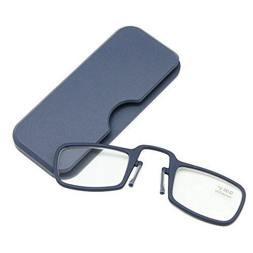 Enzodate nasoche riposareadingglasses+ 1,0a+ 3,5stickovunque,ultraleggeroportatileemergenzaportafogliolettoreconcasoandareovunque (forza + 1.5, 1 paio navy)
