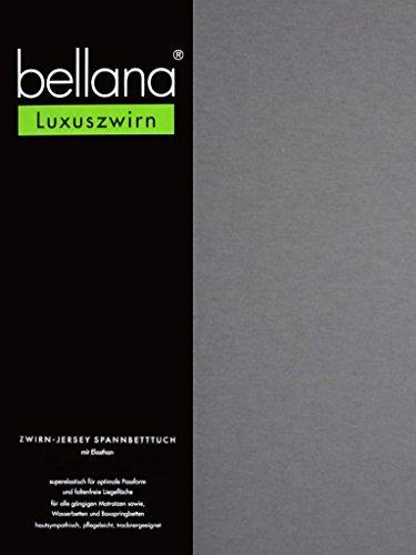 bellana® Luxuszwirn Jersey Spannbetttuch für Wasserbetten und Boxspringbetten, 180-200 x 200-220 cm, grau (Wasserbett Matratze Queen-size)