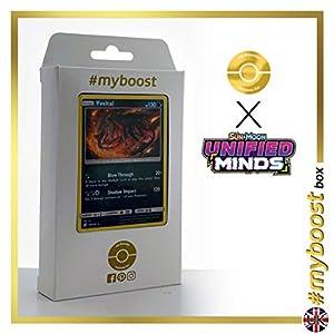 Yveltal 139/236 Holo - #myboost X Sun & Moon 11 Unified Minds - Box de 10 cartas Pokémon Inglesas