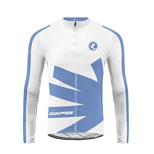 Uglyfrog Magliette Bici Invernale Uomo Maglia Ciclismo Manica Lunga Camicia MTB per Corsa Bici ZRML07