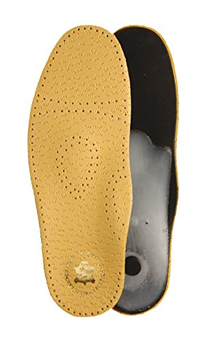 Plantillas de piel ortopédicas para pies de pie de Kaps, todos los tamaños, color Marrón, talla 36 EUR / 3 UK / mujer