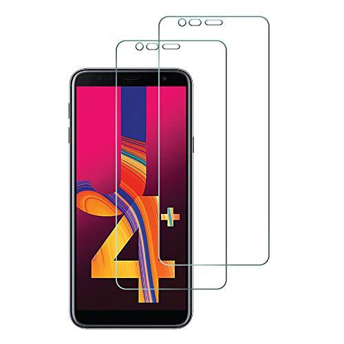 Widamin 2Pack, Kompatibel mit Galaxy J4 Plus/Galaxy J4+ Panzerglas, Bildschirmschutzfolie, Hohe Auflösung Glas, [9H Härte], [Crystal Clearity], [Kratzfest], [No-Bubble] für Samsung Galaxy J4 Plus