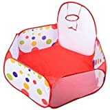 Newcomdigi Aire de Jeu Piscine à Balles pour Bébé Enfant Pliable Portable Petite Taille à Pois