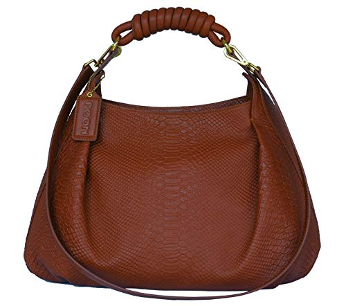 POON Damen Lederhandtasche Schultertasche Ziegel Modell 11418-10 -