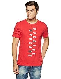 LP Jeans By Louis Philippe Men's Solid Slim Fit T-Shirt - B07DSZN9VS