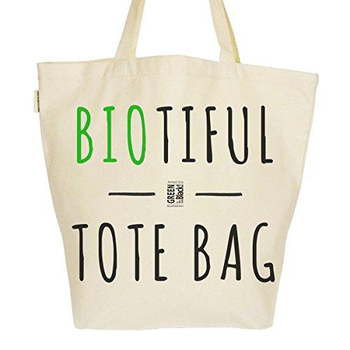 Grand Sac Cabas Fourre-tout Imprimé Toile Bio 37x45x20cm Tote Bag XL - BIOtiful tote bag