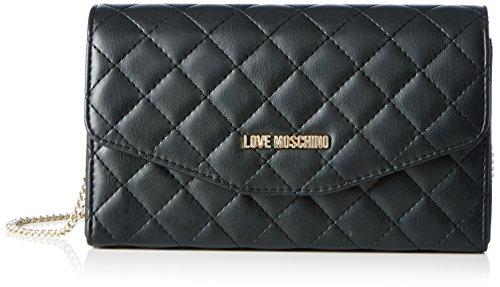 Love Moschino JC4091, Borse a Tracolla Donna, Nero (Black), 6x13x23 cm (B x H x T)