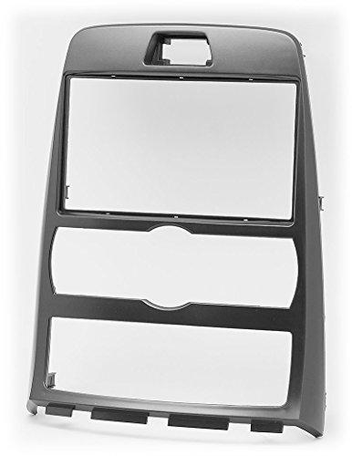 carav 11-389 Doppel DIN Autoradio Radioblende DVD Dash Installation Kit für Genesis Coupe 2009-2012, ROHENS Coupe 2008 + automatische Klimaanlage mit 173 * 98 mm und 178 * 102 mm
