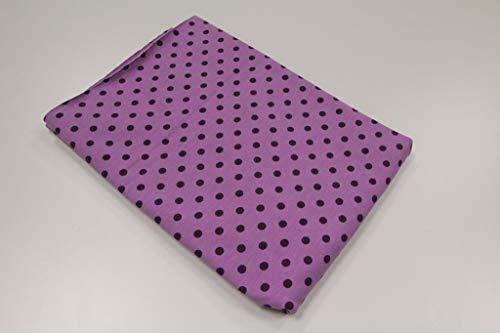 Pinidi Coupe Tissu / 50 cm x 140 cm/Ökotex/Jersey à Pois Violet sur Violet