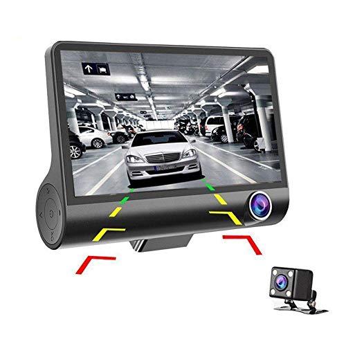 ZHIXX MALL Full HD 1080P Dashcam Autokamera, Video Recorder Car Camera,F2.0 Blende,170° Weitwinkelobjektiv,4 Zoll LCD-Bildschirm,Dual Lens,Parkmonitor, G-Sensor,Loop-Aufnahme und Nachtsicht