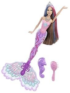 Mattel barbie x9179 couleur sir ne teresa poup e magique avec changement de couleur amazon - Barbie sirene magique ...