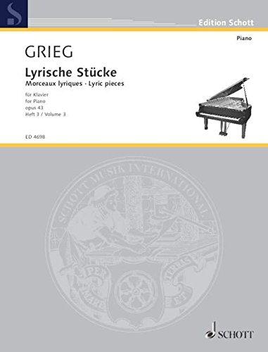 Lyrische Stücke Bd3 Op43 - Piano