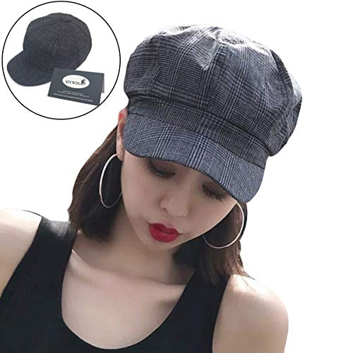 Women Newsboy Cap Ladies Autumn Baker Boy Cap Beret Hats for Women