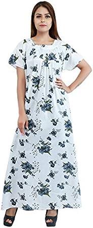 2her Focus-Ladies Nightwear and Nighty(108flower_Black)