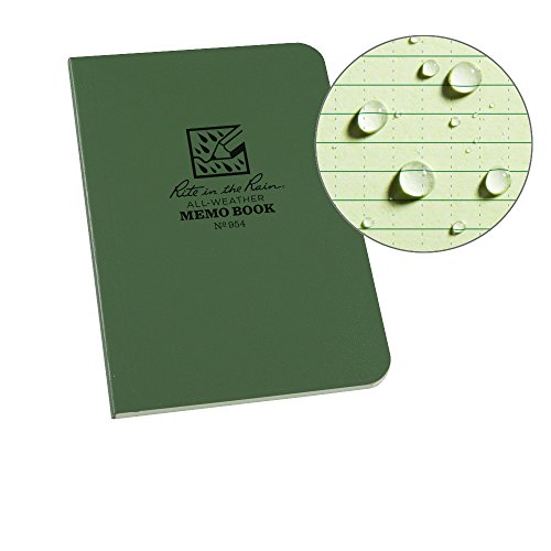 Rite in the Rain Notizblock, wetterfest (374-m), Memo Book, Green/Green