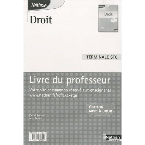 Droit Tle STG : Livre du professeur by Patrick Mercati (2010-07-07)
