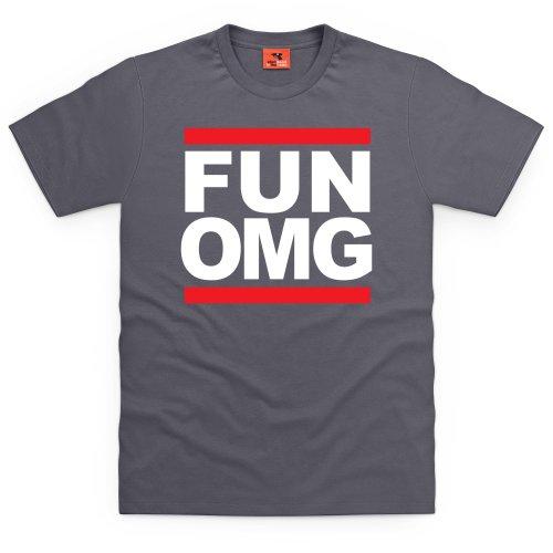 Fun OMG T-Shirt, Herren Anthrazit