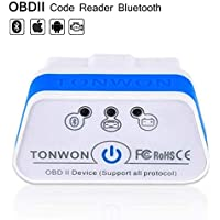 TONWON OBD2 Escáner OBD2 Lector de Código de Coche Bluetooth Herramienta de Escaneo para Android e