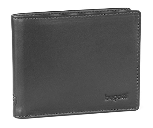 Bugatti Business Card Case, schwarz (schwarz) - 2160641 (Case Card Business Leder)
