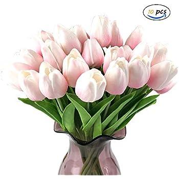 2 Stück Künstliche Blumen Real Touch Vivid Lily gefälschte Blumen Hochzeit Dekor