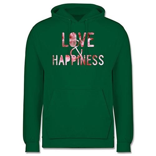 Statement Shirts - Love & Happiness Pink - Männer Premium Kapuzenpullover / Hoodie Grün
