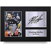 Gianluigi Buffon de la temporada impresión de impreso de la Juventus firmado A4foto imagen pantalla–gran Idea de regalo