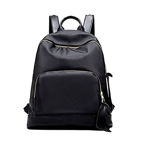 Mefly Neuen Handtasche Tasche Rucksack Farbe großen Rucksack Stil Schule, Schwarz black