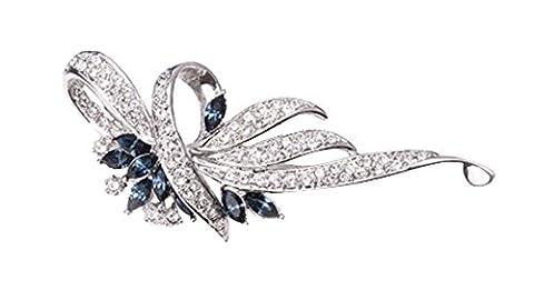 niceEshop(TM) Fancy Vintage Clear Crystal Rhinestone Fashion Brooch Pin