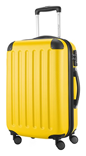 HAUPTSTADTKOFFER Hartschalen Koffer SPREE 1203 · 3 Koffergrößen (49Liter · 82Liter · 128Liter) · MATT · TSA Zahlenschloss (49 Liter, Gelb)