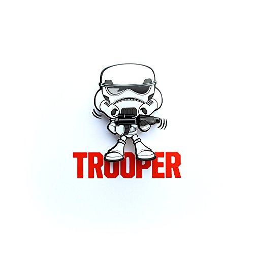 Preisvergleich Produktbild Star Wars Storm Trooper Nachtlicht LED mit Wandaufkleber 3D Light FX