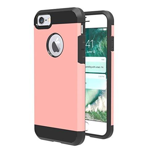 Easy Go Shopping Für iPhone 7 Trennbare Mieder-TPU + PC Kombinations-Kasten, Kleine Quantität Empfohlen vor iPhone 7 Start (Color : Rose Gold) (Taste Mieder)