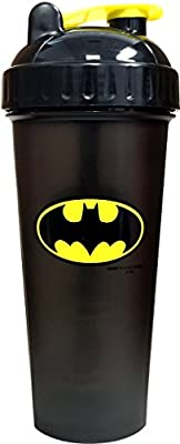Super Hero Gym Protein BCAA Shaker Bottle Blender Mixer Cup (Batman) from Perfect Shaker