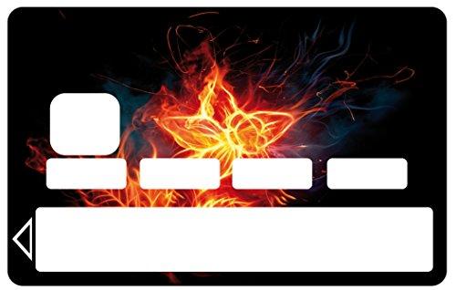 Aufkleber für Kreditkarte EC-Karte, Motiv: Flammen-Blume Referenz 1065