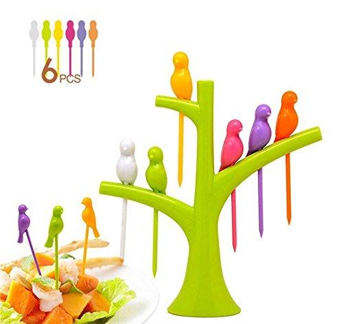 Bright Birds Fruit fork Set (Color may Vary- AZ5044.)