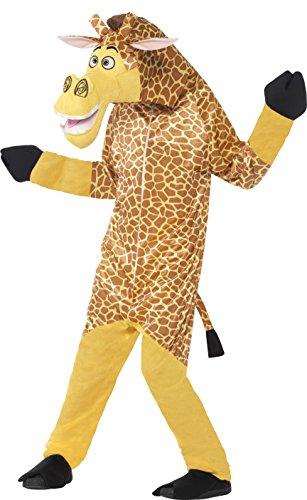 x Melman die Giraffe Kostüm, All-in-One mit gepolstertem Kopf, Madagascar, Größe: M, 20485 (Melman, Die Giraffe)