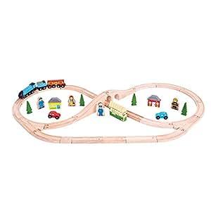 Bigjigs Rail BJT027 Heritage Collection Mallard Train Set - 42 Play Pieces