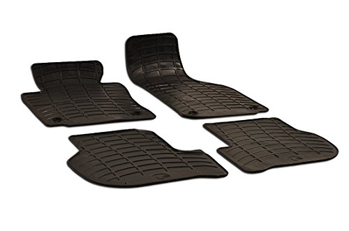 Preisvergleich Produktbild Gummimatten Fußmatten für Golf V (1K) (2003-2008) Golf VI (5K) (2008-2012) Scirocco III (1K8) (2008-2014) Jetta V Sedan (1K5) (2005-2010)