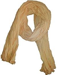 Chèche Écharpe Double Très Long 3 Mètres 100% coton Foulard beige