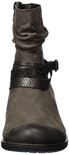 Remonte - R3354, Stivali da motociclista Donna Grigio (Bisam/Antik/Bronze/Altsilber/25)