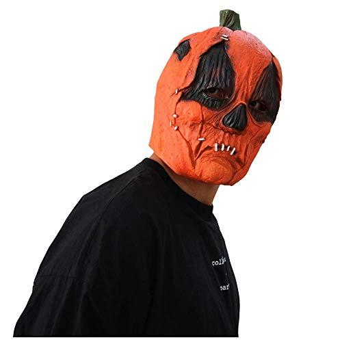 YaPin Halloween Kürbis Maske Kopfbedeckungen Horror Ghost Kürbis Maske Filme Lustige Spukhaus Ball Kopfbedeckung (Aus Halloween Film Dem Kürbis-gesicht)