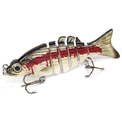 QINJLI Fischköder, 8.5cm-luya-Köder-Kunststoff-Hartköder-11g-Mehrgelenk-Fisch-Bionik-Köder 2pcs