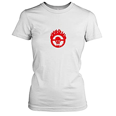 TEXLAB - Mad Fury - Damen T-Shirt, Größe XL, weiß