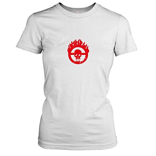 TEXLAB - Mad Fury - Damen T-Shirt, Größe XL, weiß (Furiosa Kostüm Mad Max)