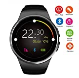 Lolobeauty Orologio da Uomo Intelligente KW18 Bluetooth умные часы frequenza cardiaca Contapassi SIM Smartwatch Risposta Chiamata TF Telefono