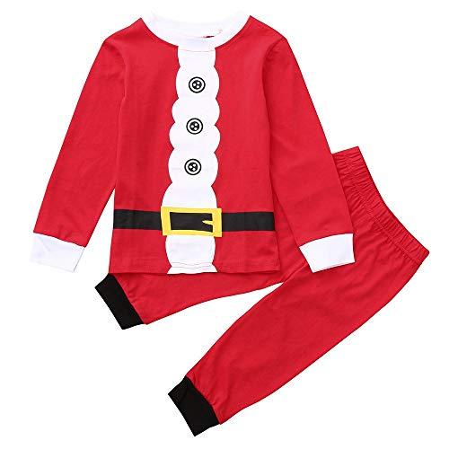 FIRSS Baby Weihnachtsmann Jungen Mädchen Cosplay Kostüm Santa Niedlich Party Weihnachtskostüm 2pcs Drucken Tops + Hosen Outfits