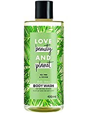 Love Beauty & Planet Tea Tree and Vetiver Aroma Daily Detox Body Wash, 400 ml