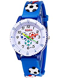 Kidzo Football Fan Blue Analog Kids Wrist Watch with 3D Strap.