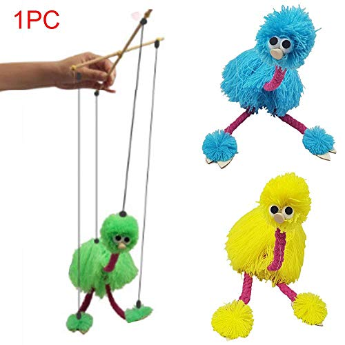 CVERY 2pcs Tirar Cuerda Cachorro Juguete Niños Marioneta